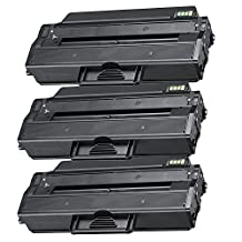3 Pack - Compatible Black High Yield Toner Cartridge for MLT-D103L 103L MLT-D103S Works With Following Printer Models: Samsung ML-2950D ML-2950ND ML-2955DW ML-2955ND SCX-4728FD SCX-4729FD SCX-4729FW ML2950D ML2950ND ML2955DW ML2955ND SCX4728FD SCX4729FD SCX4729FW by Forlei® Products