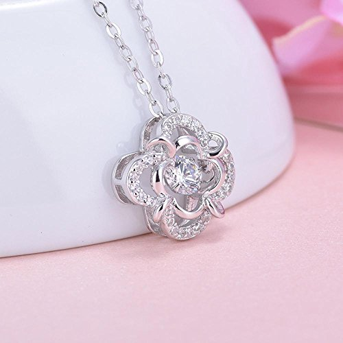 Liudaye 925 sterling silver plum blossom necklace with diamond clavicle chain pendant lady Gift