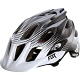 Fox Head Flux Race Helmet, White/Black, Small/Medium For Sale