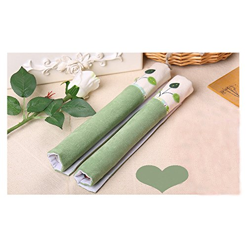 2 X Handle Covers- Cloth Protector for Electrical kitchen Appliances,Fridge,Microwave,Dishwasher,Oven Door - Keep Clean from Drips Smudges Fingerprints Dust Handmade Decoration (Green)