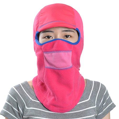 Abrigo De Invierno Unisex Solapa A Prueba De Viento Máscara De Esquí Sombrero Cazador Trampero Sombreros De Caza Para Hombre Cálido Invierno Bombardero Sombrero RoseRed