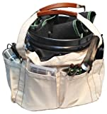 Canvas Grower's Bag with Handles and 5 Pockets for Gardening, Greenhouses, Hydroponics, and Tools