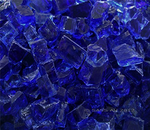Fireglass 벽난로 Fire Pit Glass, ~ 1 2 Cobalt CHUNKY, 4 LBS/Fireglass Fireplace Fire Pit Glass, ~1 2  Cobalt CHUNKY, 4 LBS