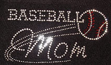 Baseball Mom Iron On Rhinestone Crystal T-shirt Transfer by JCS Rhinestones