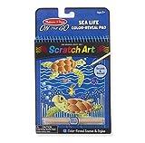 Melissa & Doug Sea Life Color-Reveal Scratch Art Activity Pad Children's Scratchboard Kits, Multicolor