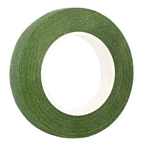 "DECORA 1/2"" Wide Dark Green Floral Tapes for Bouquet Stem Wrapping and Floral Crafts"