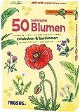 Moses Expedition Natur - 50 heimische Blumen | Bestimmungskarten im Set | Mit spannenden Quizfragen