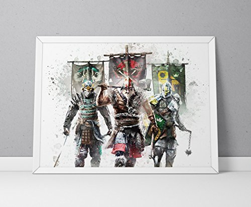 For Honor print, For Honor poster, game poster, N.004