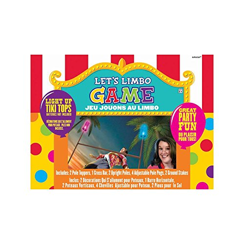 Carnival Fair Fun Luau Limbo Game Party Activity, Plastic , Pack of 11