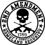 2nd Amendment Homeland Security; Round Bumper Sticker