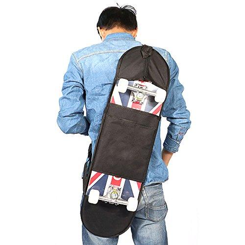 Tsptool Unisex Skateboard Bag Standard Skateboard Carry Bag Handy Backpack Waterproof Shoulder Black