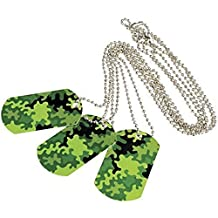 Camouflage Camo Metal Dog Tags (Lot Of 12)