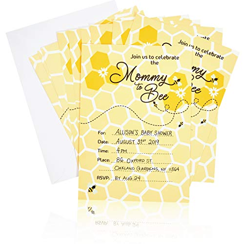yellow baby shower invitations - 5