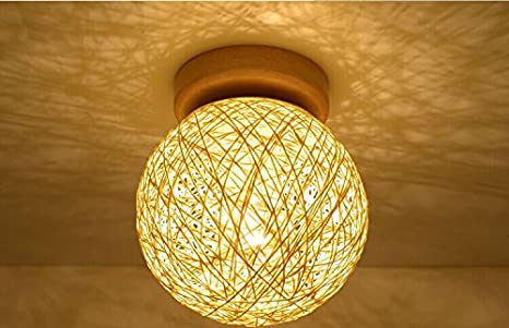 Glas bal eenvoudige industriële vintage plafondverlichting voor