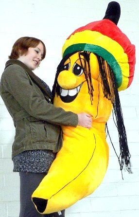 Buy Giant Rasta Banana Plush Stuffed Toy Five And A Half Feet Tall