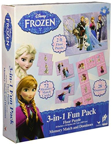 Disney Frozen 3 In 1 Activity Game Box Puzzle Floor