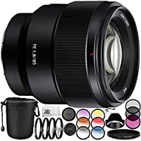 Sony FE 85mm f/1.8 Lens 8PC Accessory Bundle – Includes 3 Piece Filter Kit (UV + CPL + FLD) + 4PC Macro Filter Set (+1,+2,+4,+10) + MORE
