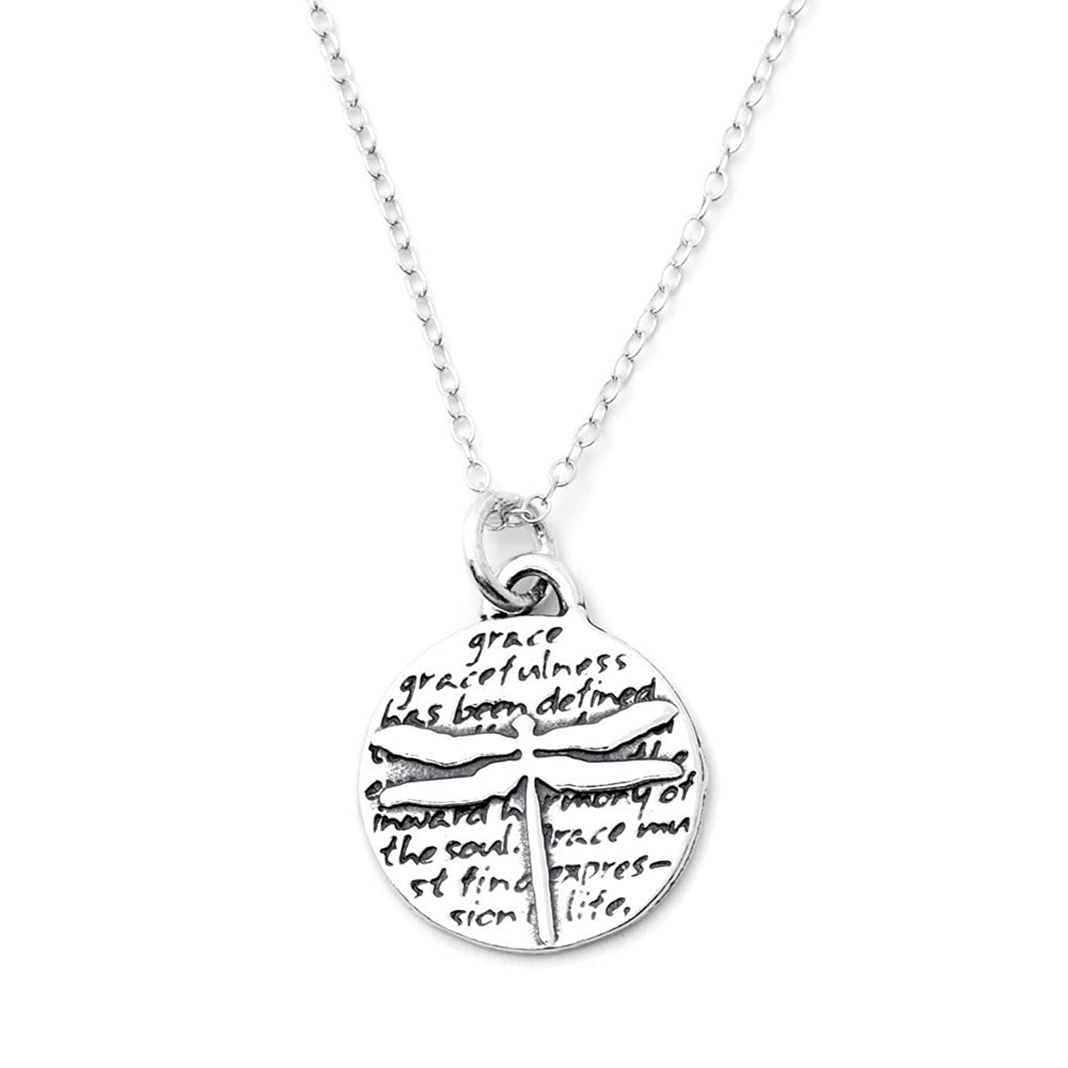 fac69f3ee ... kevin n anna dragonfly grace e sterling silver small pendant necklace  ...