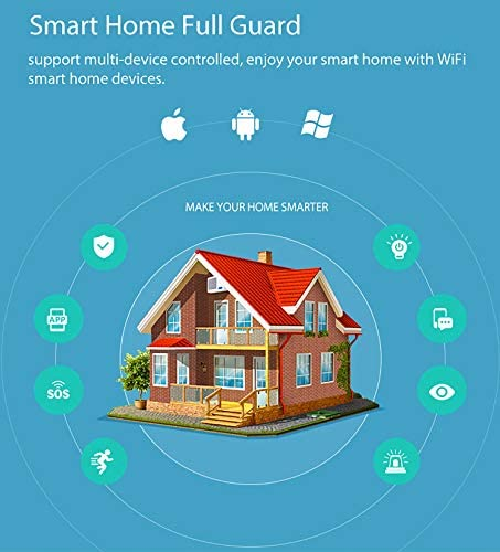Smart PIR Motion Sensors: WiFi Motion Detector with Temperature and Humidity Sensor,Movement Detector with USB Charge,Compatible with Alexa,Google Home,for Smart Home Automation.