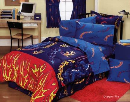 River Dan Pillowcase - (128375) Dan River Dragon Fire Pillowcase - Final Closeout Pricing!