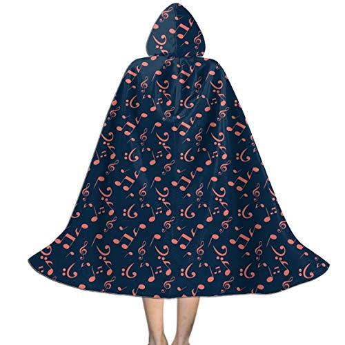 Abstract Halloween Costume Ideas (UlNight Kids Hooded Cloak Cape Halloween Abstract Music Party Cosplay Costume)