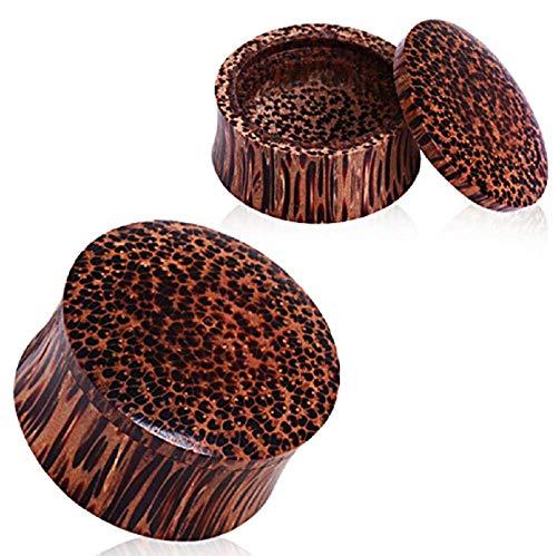(Freedom Fashion Organic Coconut Wood Stash Saddle Plug (Sold by Pair) (1