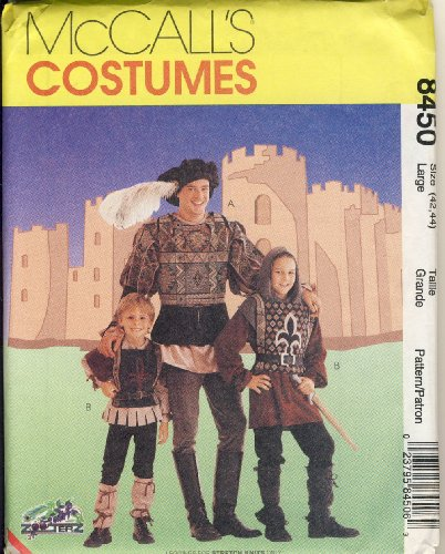 McCall Sewing Pattern 8450 Large - Use to Make - Men's Medieval / Renaissance Costumes - Size Large (42, 44)