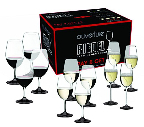 Bottom Black Color Riedel Ouverture Red and White Magnum Glass and Champagne Flute by TableTop King