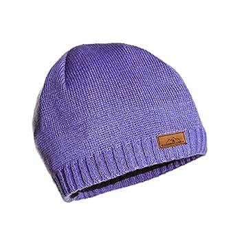 Beanie Knit Ski Cap Periwinkle - Premium Wool Blend - designed by CacheAlaska