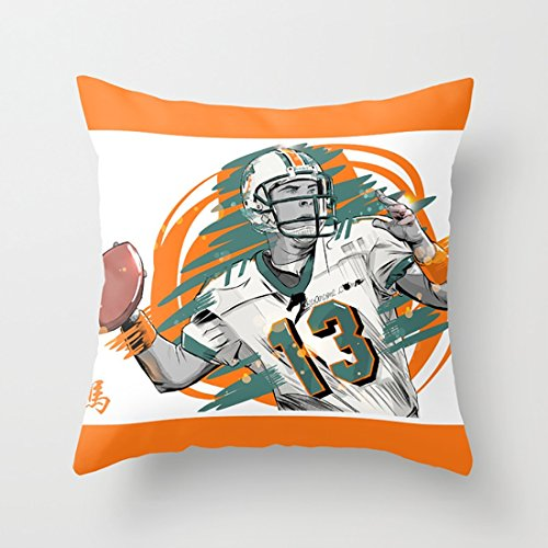 HotNewbee NFL Legends Dan Marino   Miami Dolphins Fashion Throw Pillow Set  With Acknowledged Cute Outlook