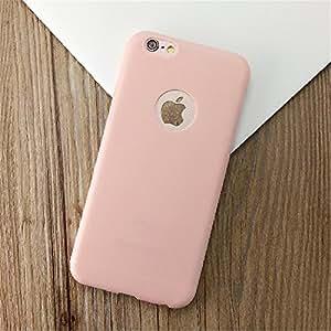 """panniuzhe Creative Lovely Candy Color Suave Carcasa de silicona para iPhone 6/6S Plus de 5,5pulgadas, silicona, rosa, 4.7"""""""