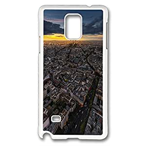 Samsung Galaxy Note 4 Case, DIY galaxy note 4 cases PC White With pattern Paris, France
