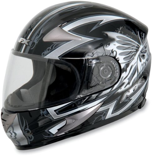 AFX FX-90 Passion Helmet , Size: Sm, Primary Color: Silver, Helmet Type: Full-face Helmets, Helmet Category: Street, Distinct Name: Silver Passion, Gender: Womens 0101-5183