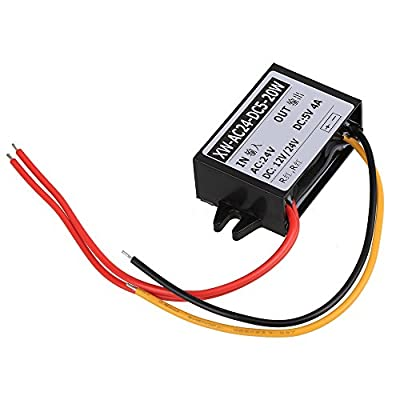 WEONE AC 24V to DC 5V 4A 20W Car Power Supply Buck Converter Non-isolated Buck Module