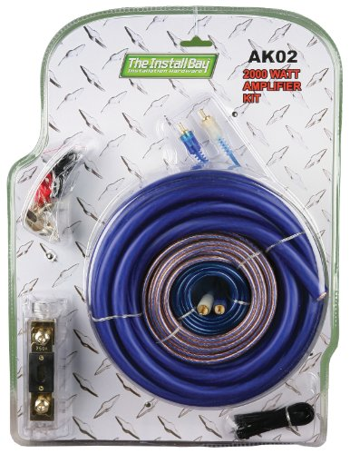 Metra AK02 2000 Watt Single Amplifier - Cables Metra Gold