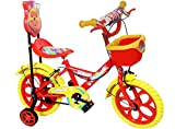 NY Bikes Kids Bicycle For 2 To 5 Years, Aqua 14T Steel (Red & Yellow)