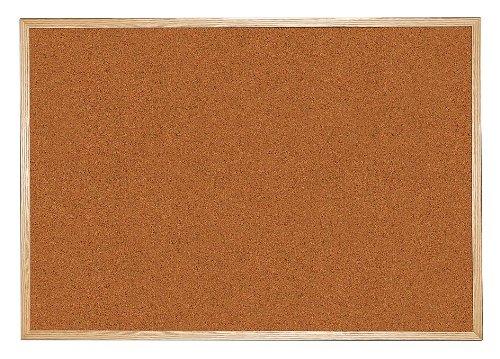 Balt / MooreCo - 300WH-93 - Red Splash Cork Bulletin Board, Wood Frame Material, 96 Width, 48 Height