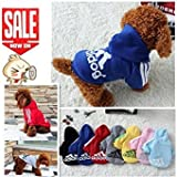 Pet Dog Clothes Autumn Winter Hoodie Coat Jumpsuit Sweater Adidog Clothing for Large Dogs Medium Small XS S M L XL XXL M Yellow DSSDGHGL8C21