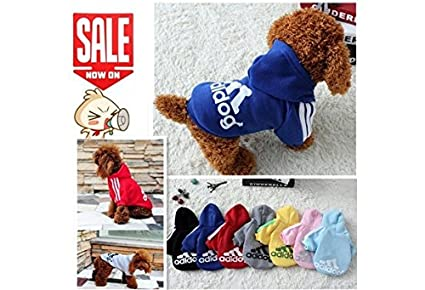 Pet Dog Clothes Autumn Winter Hoodie Coat Jumpsuit Sweater Adidog Clothing for Large Dogs Medium Small XS S M L XL XXL (color: Red, size: S) Xuanyun