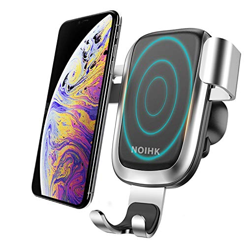 NOIHK Wireless Car Charger,10W QI Gravity Car Mount Air Vent Phone Holder,Fast Charge Compatible for Samsung Galaxy S9/S9+/S8/S7,Compatible for iPhone Xs/MAX/XR,iPhone X,8/8Plus and Qi Enabled Devices