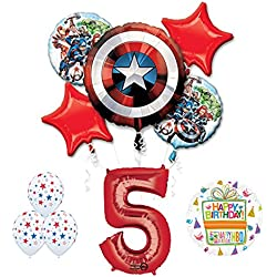 The Ultimate Avengers Super Hero 5th Birthday Party Supplies and Balloon Decorations