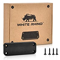 WHITE RHINO Gun Magnet Mount - Complete Kit Includes 4 Screws and Double Sided Tape Rubber Coated 35 lb Rating Magnetic Gun Holder for Truck, Car, Holster, Handgun, Rifle, Pistol