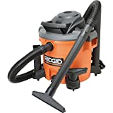 Ridgid 12 Gallon Wet/Dry Vacuum High-Performance 5 HP, 10 Amp Motor – Converts Into A Blower To Clear Debris – Patented Scroll Noise Reduction For Quiet Performance – 15′ Power Cord 7′ Locking Hose With Attachments – Onboard Storage Pleated Paper Filter Included (Shop Tool) For Sale