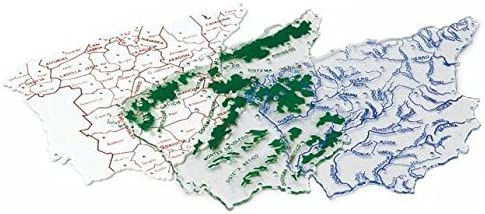 Plantilla Plastico Mapa España Bachiller B/3 Uds.: Amazon.es: Oficina y papelería