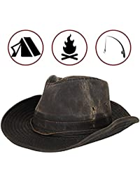 Men s Outback Hat with Chin Cord Brown 25a66a37b81a