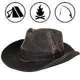 Dorfman Pacific Men's Band Binding Hat,Brown,Large