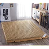 SL&CL Tatami Mattress Topper,1.8m Bed Double Bed Student Thicked Tatami mat 1.5 m Sponge mat Foldable Cushion mats-V 135x200cm(53x79inch)