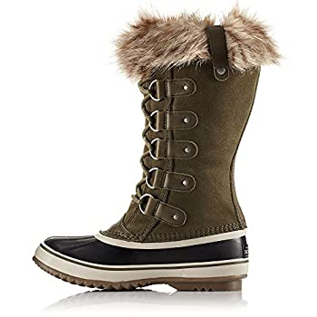 Sorel Women's 12 In. Joan Of Arctic Waterproof Boots, Noridark Stone Green 9 1