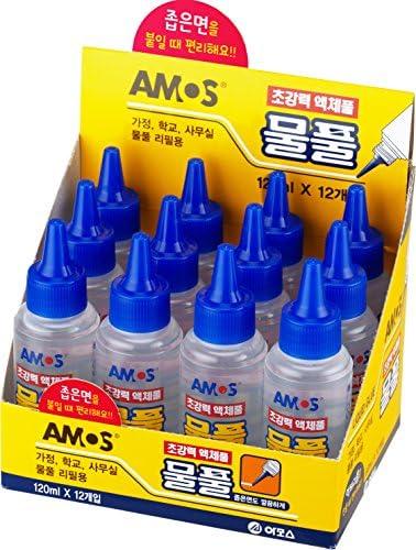 12pcs非毒性クリア液体接着剤の子供のための学校の紙の安全なクラスのウォッシャブル(120ml)