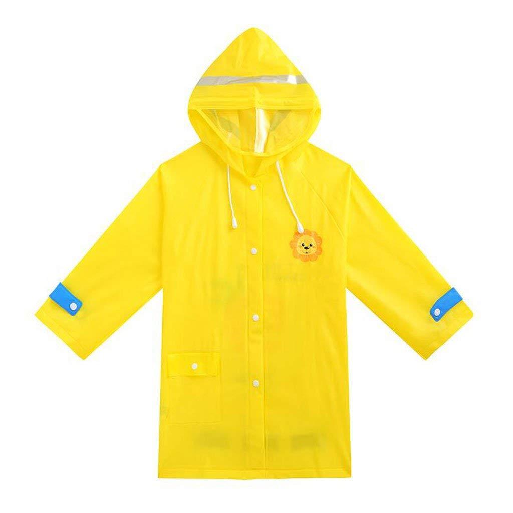 jaune-xl  BAIF Manteaux de Pluie pour Enfants avec Un Poncho pour Enfants de la Maternelle et des Enfants de la Maternelle (Couleur  Jaune-l)